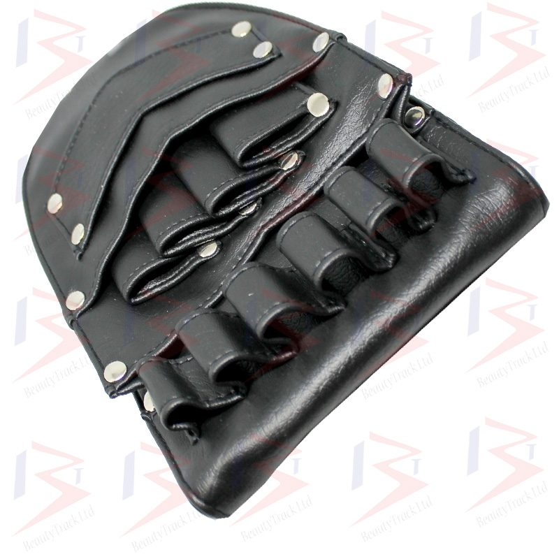 Holster Pouch Barber Hiardressing Scissors Bag Black Leather 1