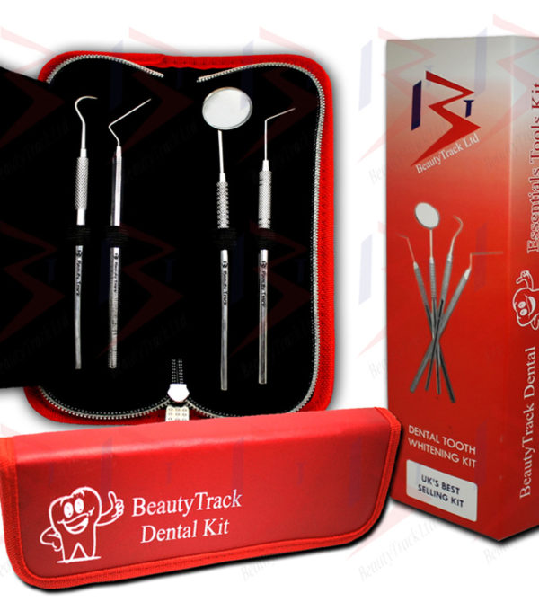 BeautyTrack Dental Scaler Probes Pick Set Mouth Mirror Steel Tool Kit 1