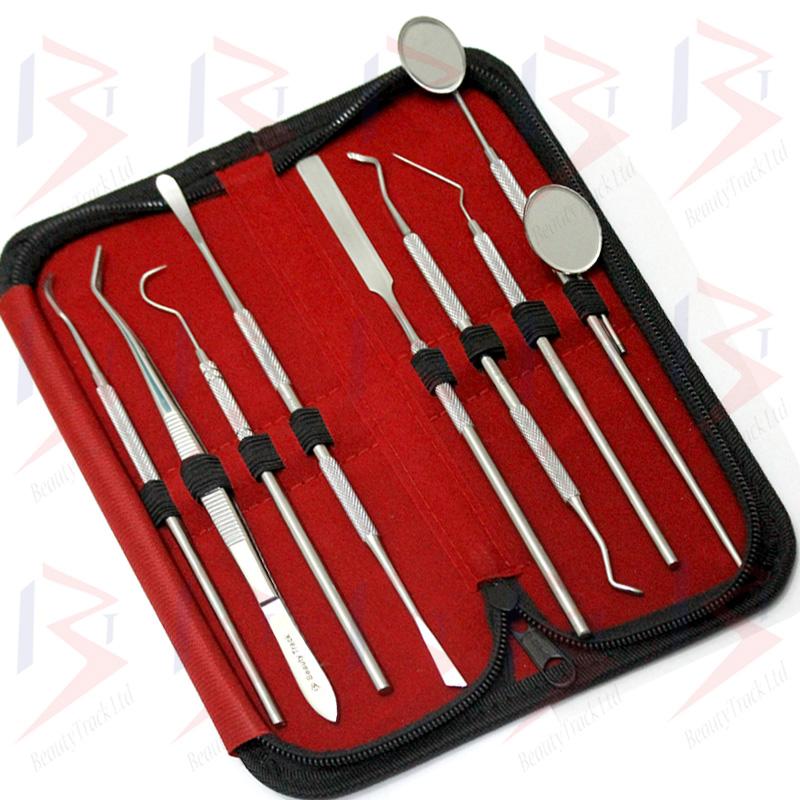 BeautyTrack Dentist Scraper Pick Tool Calculus Plaque Floss Remover 2