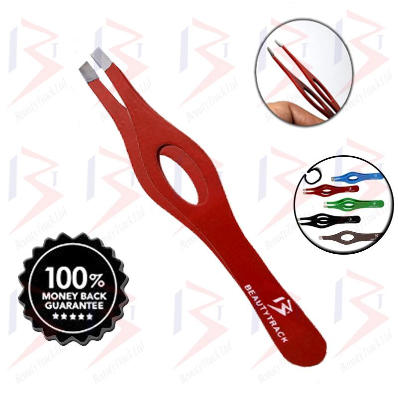 BeautyTrack Eyebrow Tweezers Red Hair Beauty Slanted Tweezer