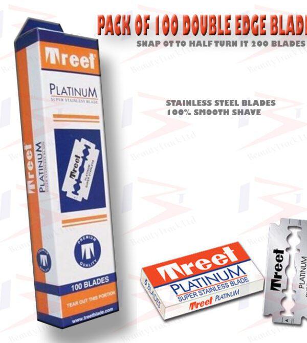 Genuine Treet Platinum Super Steel Double Edge Shaving Razor Blades 1